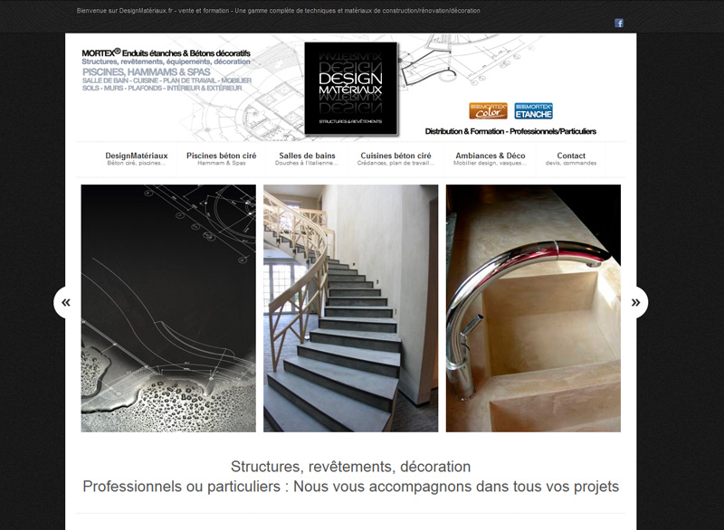 Creation site internet, charte graphique, logo, design materiaux